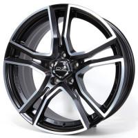 OZ Adrenalina 8x17 5x108 ET38 D75 Matt Black Diamond Cut