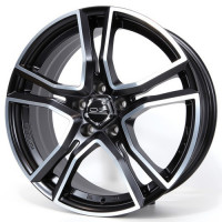 OZ Adrenalina 8x17 5x112 ET35 D75 Matt Black Diamond Cut
