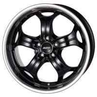 Alutec BOOST 9x20 5x120 ET15 D76.1 Diamond Black with Stainless Steel Lip