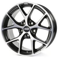 BBS SR 8x18 5x112 ET45 D82 Vulcano Grey Diamond Cut