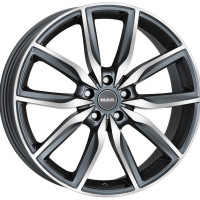 MAK Allianz 9.5x19 5x112 ET39 D66.6 Gun Metallic - Mirror Face