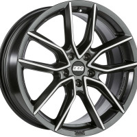 BBS XA 8.5x19 5x112 ET46 D82 Black Diamond Cut